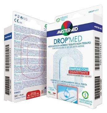 MEDICAZIONE COMPRESSA AUTOADESIVA DERMOATTIVA IPOALLERGENICA AERATA MASTER-AID DROP MED 10X6 5 PEZZI