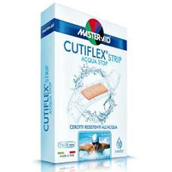 CEROTTO MASTER-AID CUTIFLEX STRIP TRASPARENTE IMPERMEABILE SUPPORTO IN POLIURETANO SUPER 10 PEZZI