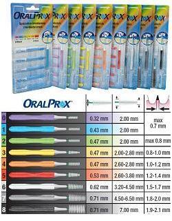 ORALPROX BLISTER DA 6 SPAZZOLINI INTERDENTALI MISURA 3 COLORE GIALLO
