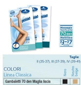 SAUBER GAMBALETTO 70 MAGLIA LISCIA NERO 3 LINEA CLASSICA